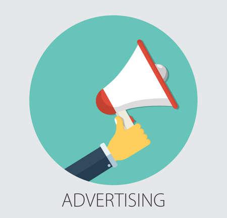 Digital advertising, email message marketing vector concept, online conference, media promotion, speaker illustration 向量圖像