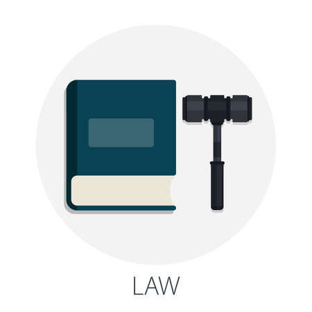 Vector illustration of legal justice and justice law with