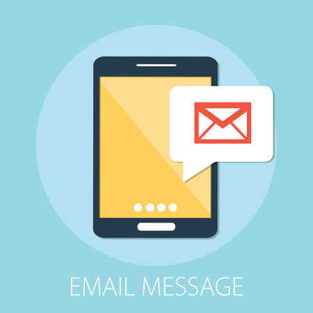 Vector illustration of email marketing & message concept with