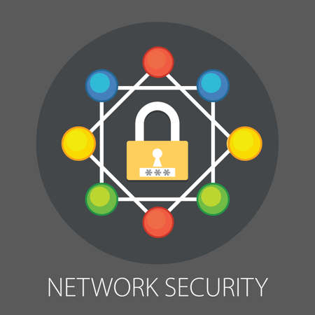 Vector illustration of information security and data protection with