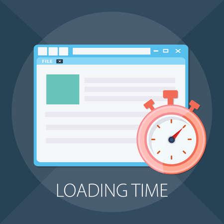 Vector illustration of fast web page & website design - browser technology.