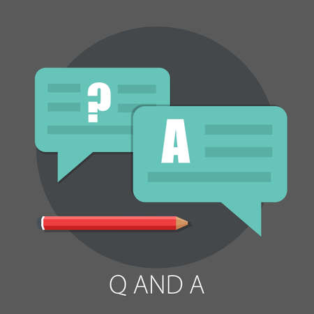 Vector illustration of question and answer with