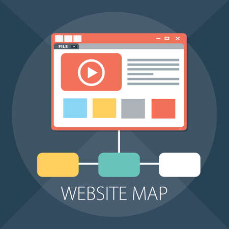 Vector illustration of infographics & website design - browser technology.