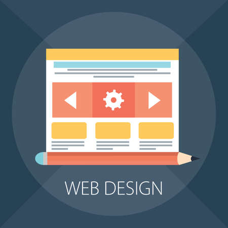 Vector illustration of website design concept & responsive, graphic interface - internet technology.