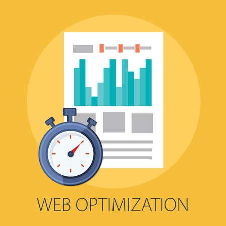 Vector illustration of seo analytics search engine & business marketing - internet technology.