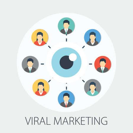 Vector illustration of social media marketing & network concept