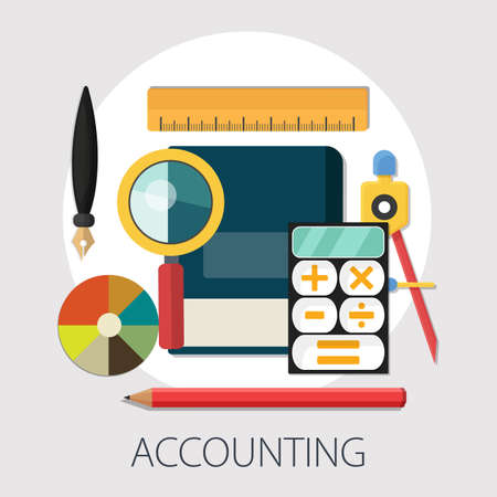 Vector illustration of Accounting or investing concept with