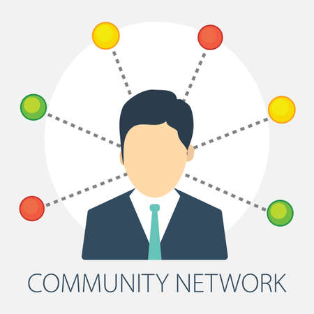 Vector illustration of a Network concept with