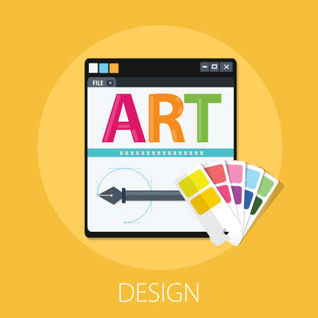 Vector illustration of art design & drawing concept with