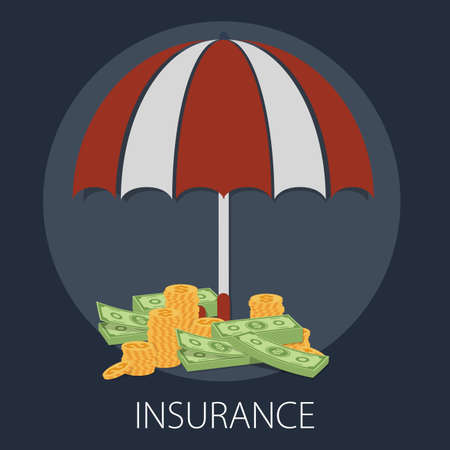 Vector illustration of insurance & protection concept with