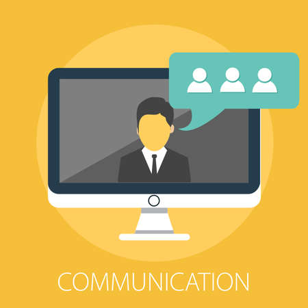 Vector illustration of a communication concept with