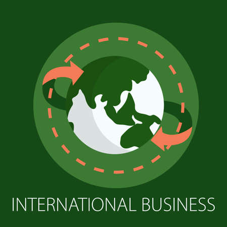 Vector illustration of international business & global communication  with