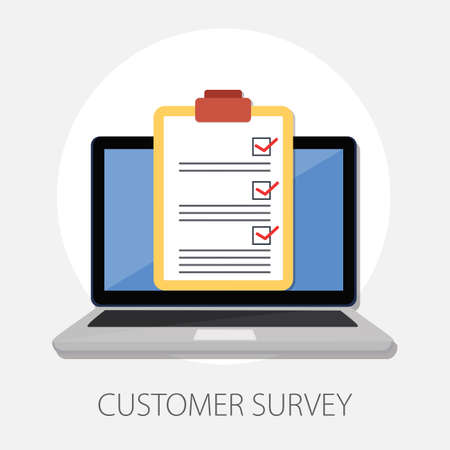 Vector illustration of customer service and satisfaction with