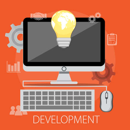 Vector illustration of business development & solution concept with
