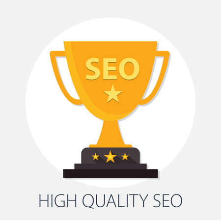 Vector illustration of seo & internet optimization concept with