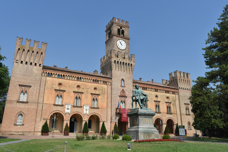 Giuseppe Verdi Square, Busseto, Parma, Italy Editorial