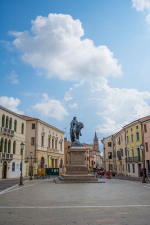 veneto: Garibaldi Square, Rovigo, Veneto, Italy Editorial