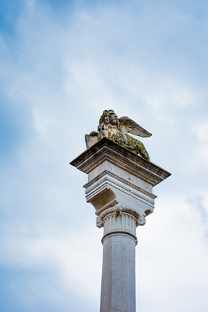 leon con alas: Winged Lion, Rovigo, Veneto, Italy
