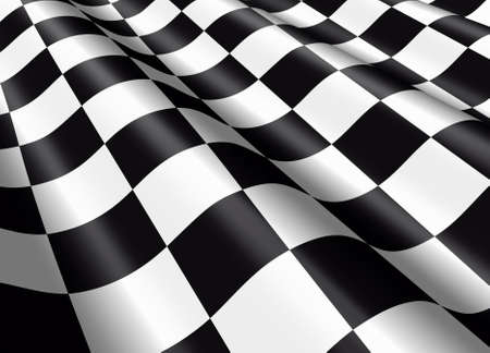 chequered flag: Detail of a waving chequered flag