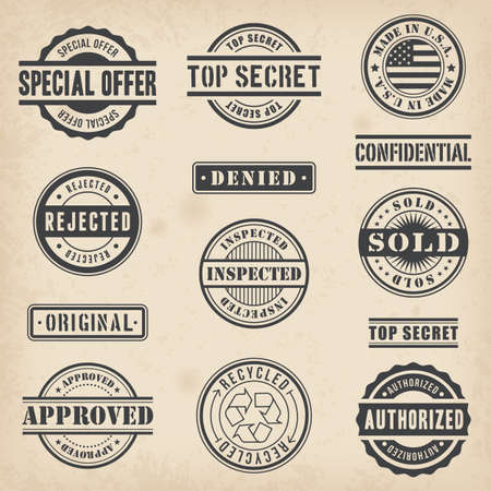 authorized: Collection of 13 Hi detail commercial stamps