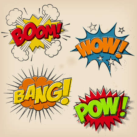 comic bubble: Grunge Cartoon Sound effects
