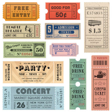 circus ticket: Grunge Tickets and Coupons