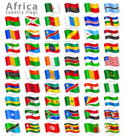 すべてアフリカの国旗のコレクション