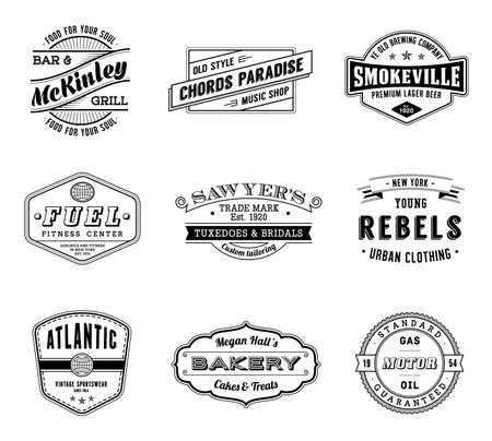 Nine high Quality Vintage Labels.