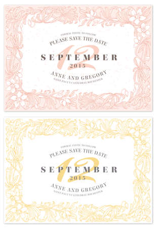 Two hi detail Vector Grunge Tickets for Wedding Invitations and Save the Date  Each ticket is on 3 different layers with Text; texture effect and background shape separated