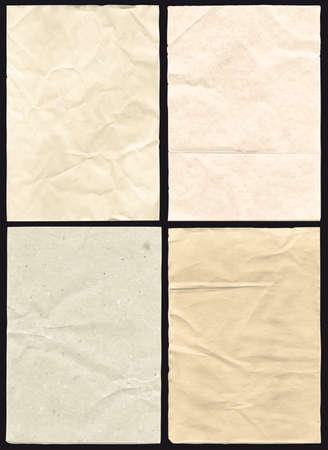 mapa del tesoro: Cuatro papeles arrugados alto detalle