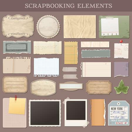 attach: Colección de varios elementos de los libros de chatarra