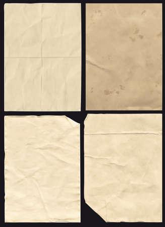 paper textures: Four Crumpled high detail Paper Textures