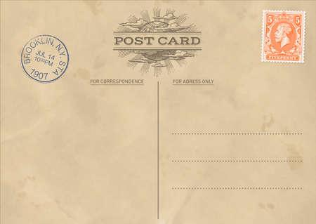 Hi Quality Vintage Postcard Template