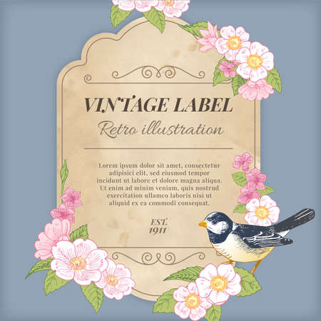 Vintage label illustration suitable for packaging Illustration