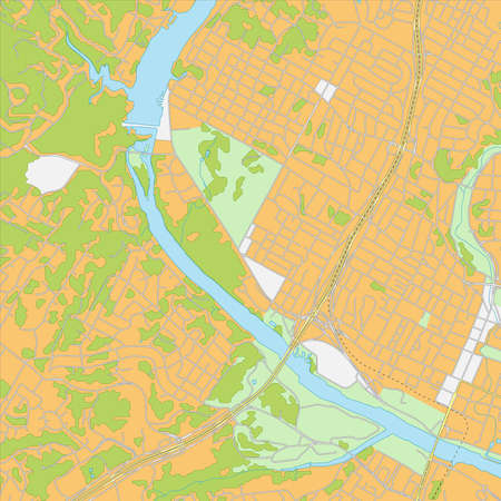 Vector illustration of West Austin city map. All elements are isolated on different layers for ease of editing. Illustration
