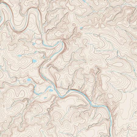 mapa: Mapa topográfico realista de un área al oeste de Austin, Texas. Mapa vectorial es en capas con isolíneas, ríos, cuerpos de agua y fondo en capas diferentes.