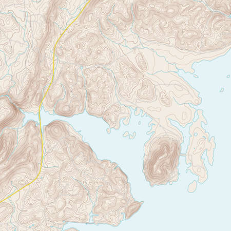 isolines: Realistic Topographic map of an area Centre AL. Vector map is layered with isolines, rivers, bodies of water, roads and background on different layers.