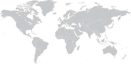 world: Haute Détail Vector politique Carte du monde illustration, savamment organisé avec des couches. Les cartes originales sont de Cia (http:www.lib.utexas.edumapsworld_mapsworld_pol_2012.pdf) pour les frontières politiques, la NASA (http:visibleearth.nasa.govview_cat.php?categoryI