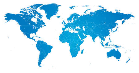 high detail: High Detail Vector Political World Map illustration, cleverly organized with layers Illustration