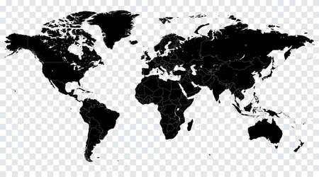 高詳細ベクトル政治世界地図の図では、巧みにレイヤーで構成されています