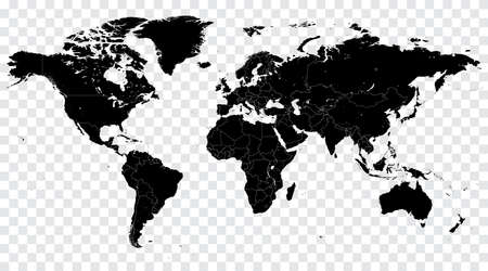 High Detail Vector Political World Map illustration, cleverly organized with layers 일러스트