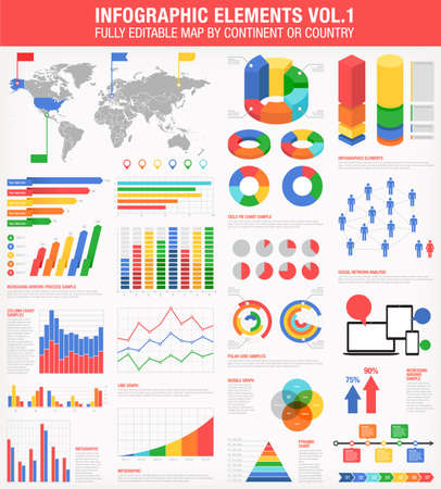 graph: A comprehensive Template set for infographics.