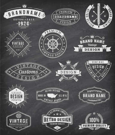 fifteen: Collection of fifteen Vintage logos and insignas.