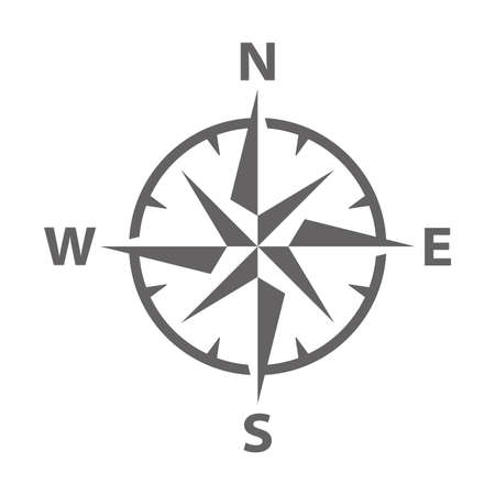 Simple Modern Vector illustration of a compass rose symbol Иллюстрация