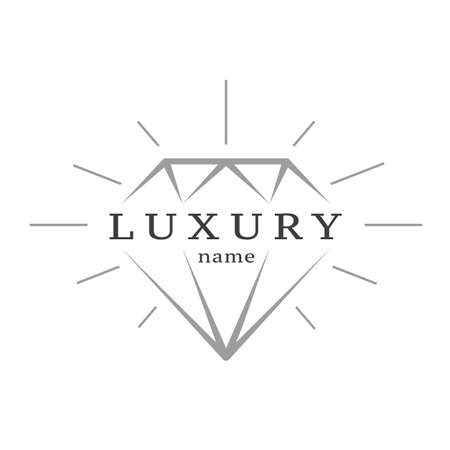 Diamond Icon Flat Graphic Design. Great for corporate and shop identity brands