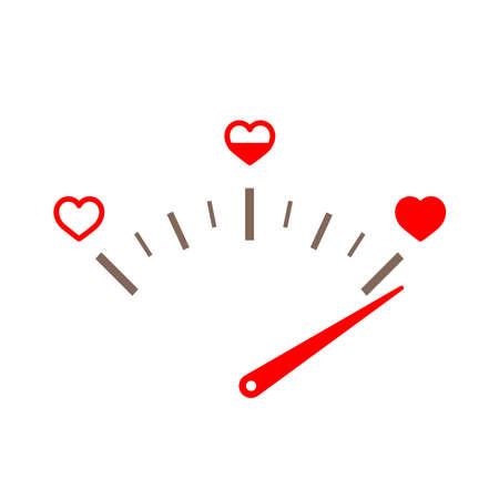 Indicador de amor. Elemento de diseño de tarjeta de San Valentín