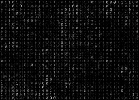 Binary code vector abstract background Illustration