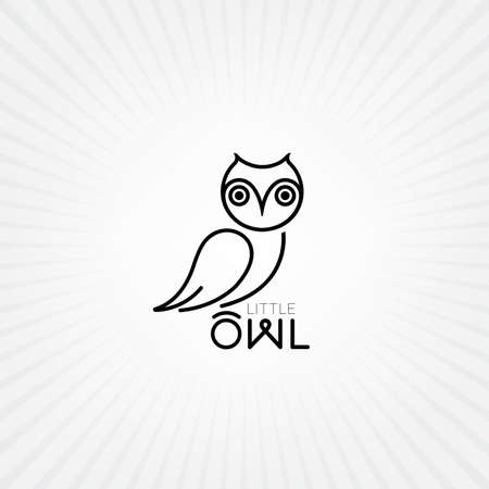 Vector owl icon. Owl logo Illustration