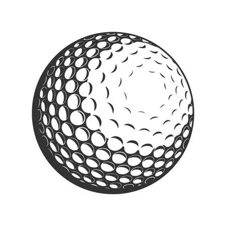 Icône plate de vecteur de balle de golf