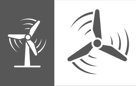Wind Turbine Vector Icon Illustration